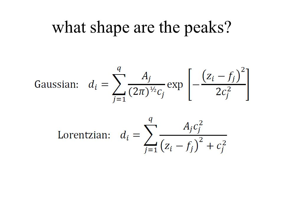 what shape are the peaks