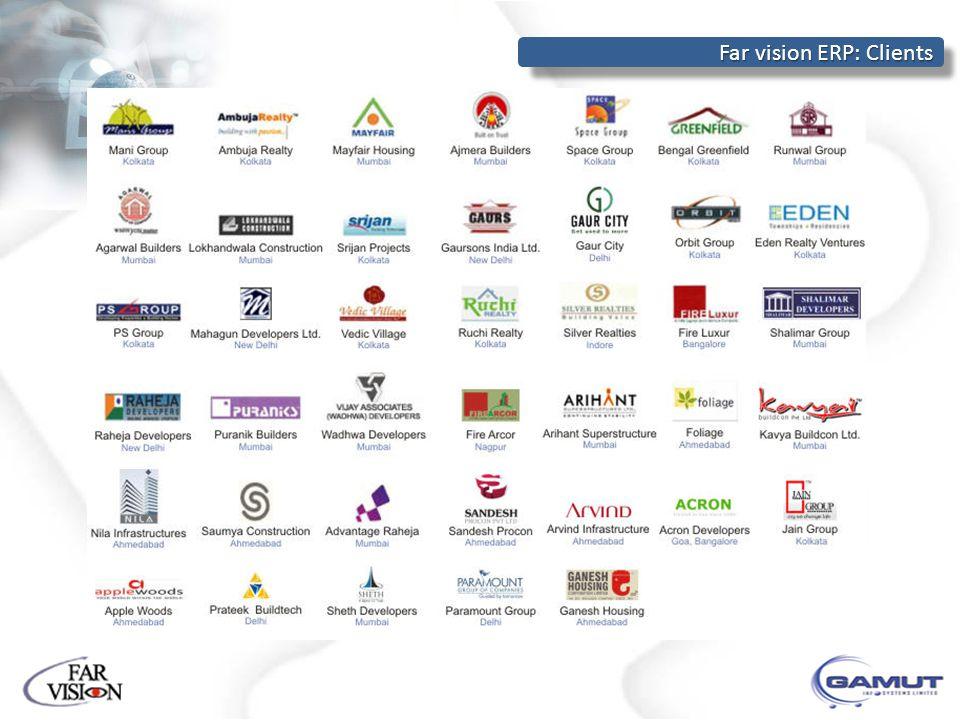 Far vision ERP: Clients