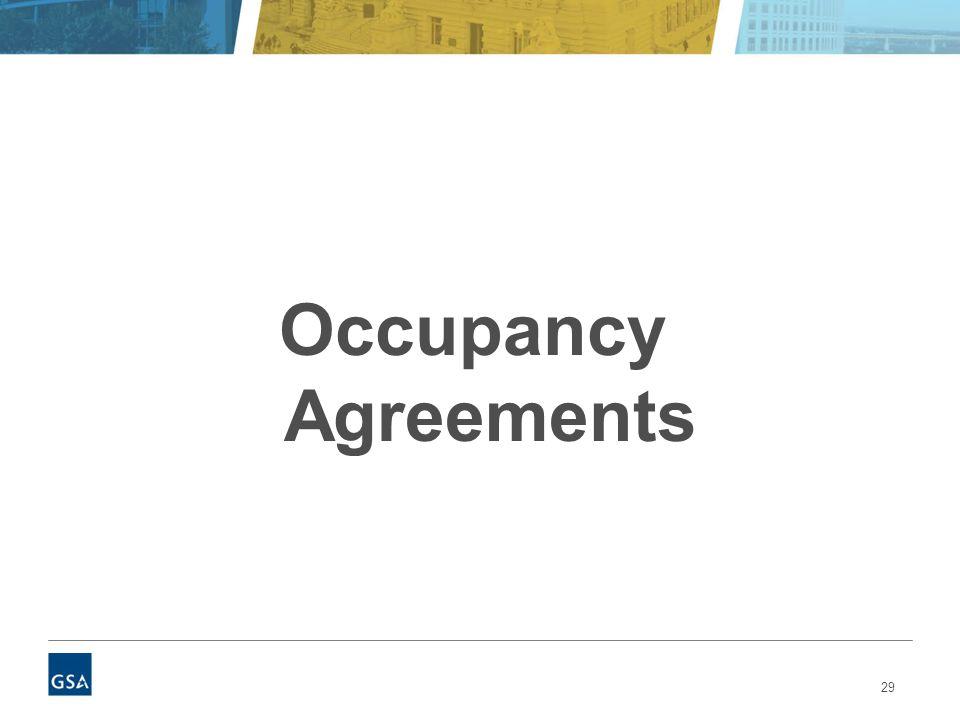 29 Occupancy Agreements