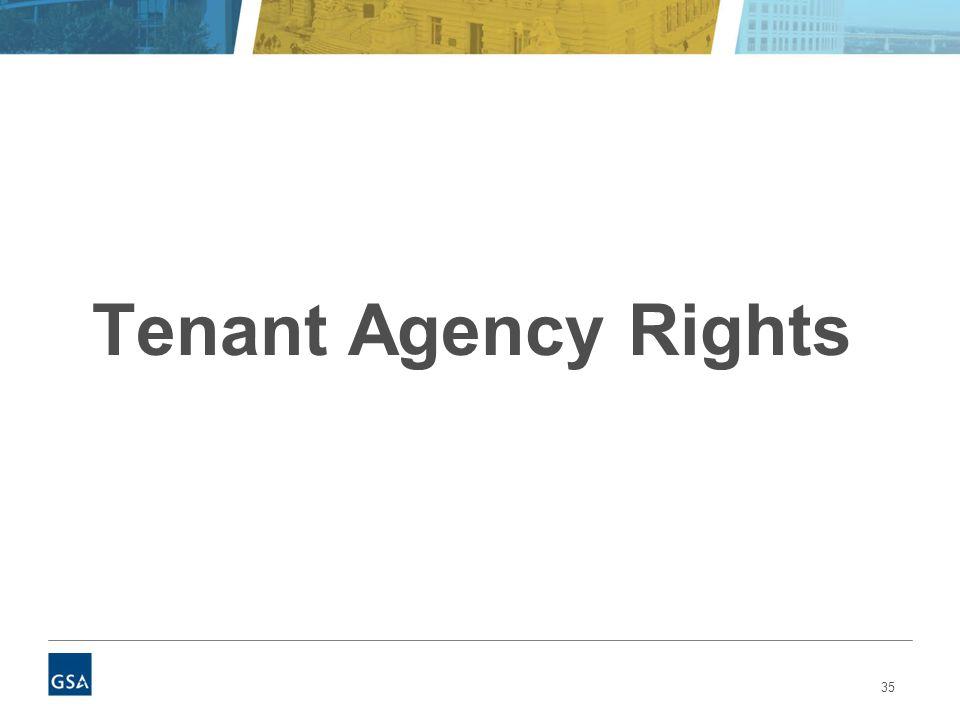 35 Tenant Agency Rights