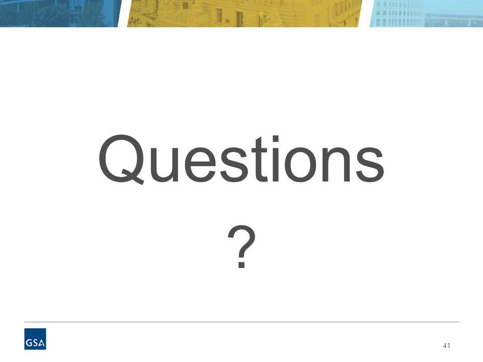 41 Questions ?