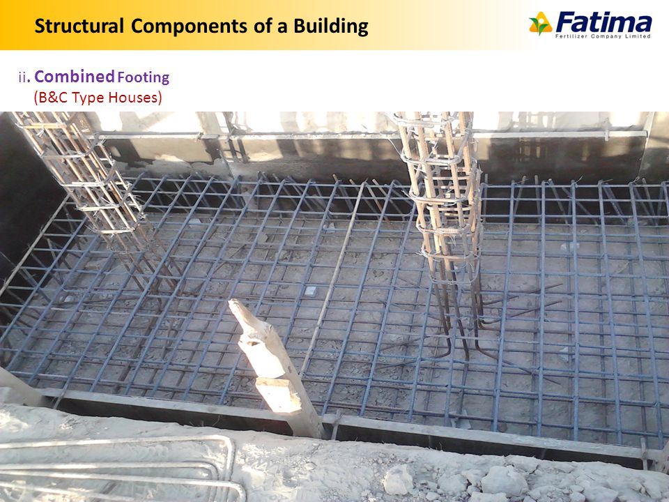 Structural Components of a Building 6 ii. Combined Footing (B&C Type Houses)