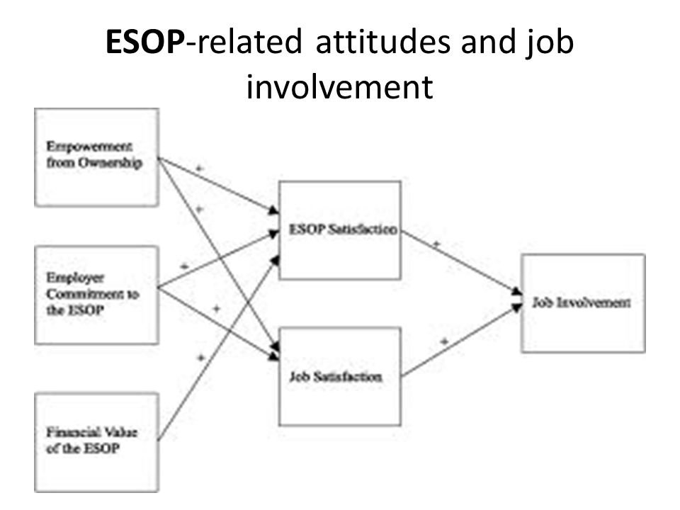 ESOP-related attitudes and job involvement