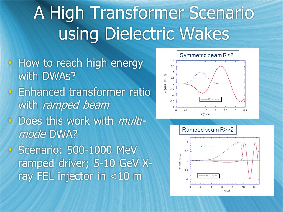 A High Transformer Scenario using Dielectric Wakes  How to reach high energy with DWAs.