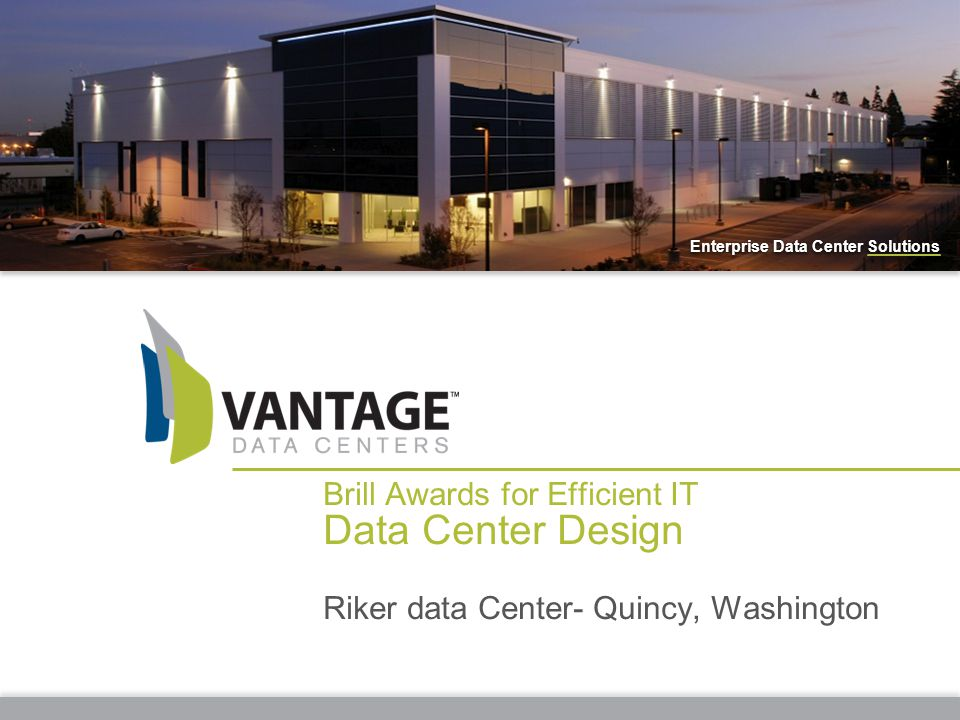 2 Designed in conjunction with an enterprise customer Provisioned to support up to 9 MW of critical IT load at full capacity Located on 101,000 m² of land and architected to provide extraordinary business resiliency in support of mission critical systems The 12,350 square meter facility features 5,575 square meters of raised floor data center space Designed to operate at a highly efficient annualized PUE (Power Usage Effectiveness) of 1.3 or below Envisioned Delivered PROJECT RIKER- QUINCY, WASHINGTON