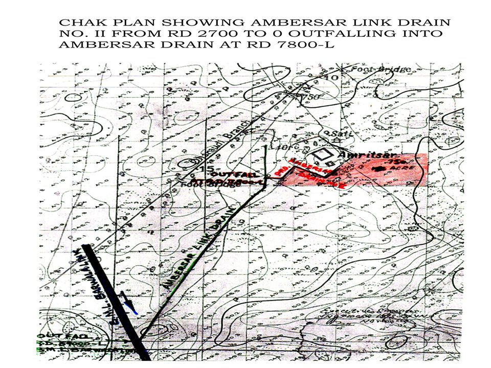 FLOOD AGENDA NOTE FOR CONSTG. AMBERSER LINK DRAIN NO.II FROM RD. 2700-0 OUTFALL INTO AMBERSER DRAIN AT RD. 7800-L WHICH OUTFALLS AT RD. 59000-L BML BA