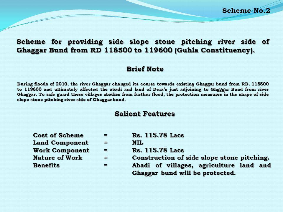 Scheme for providing 2 Nos. stone stud opposite RD.
