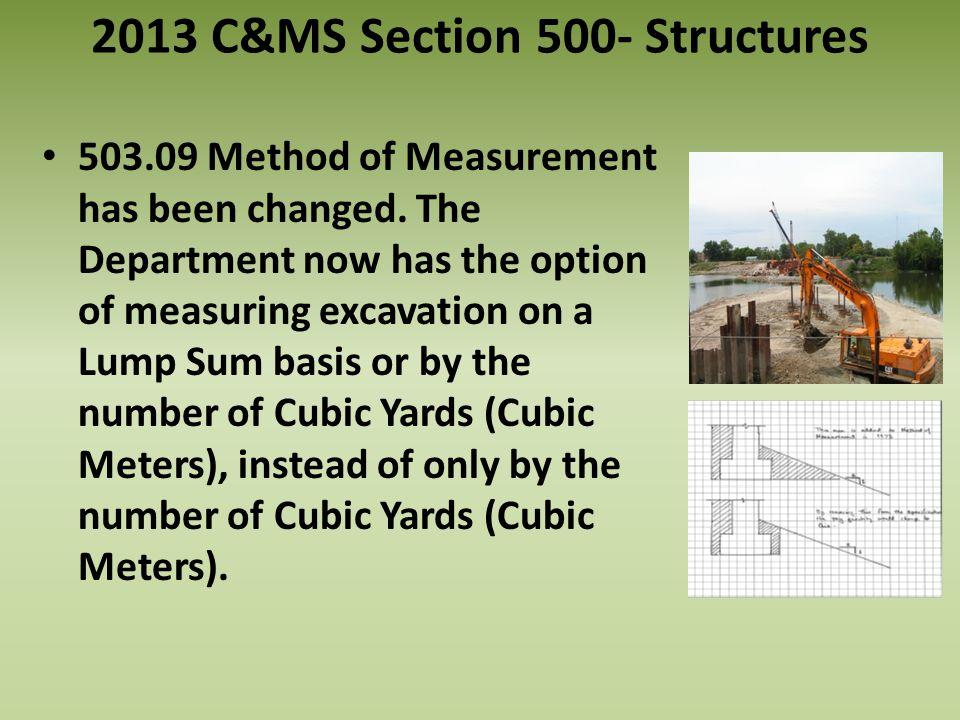 503.09 Method of Measurement has been changed.