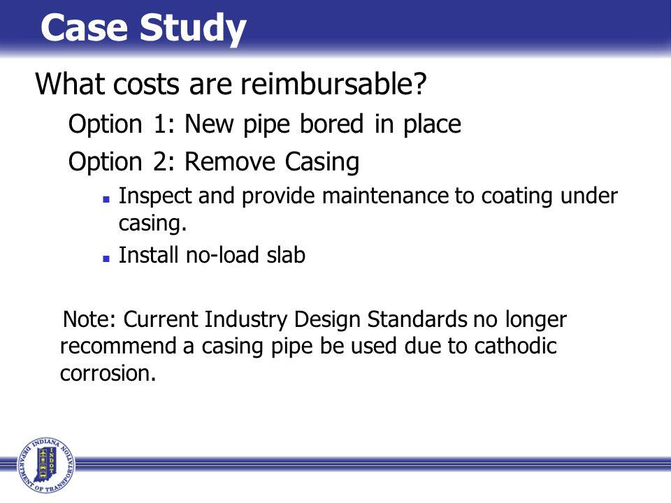 What costs are reimbursable.