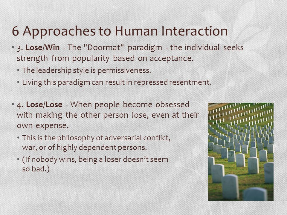 6 Approaches to Human Interaction 5.