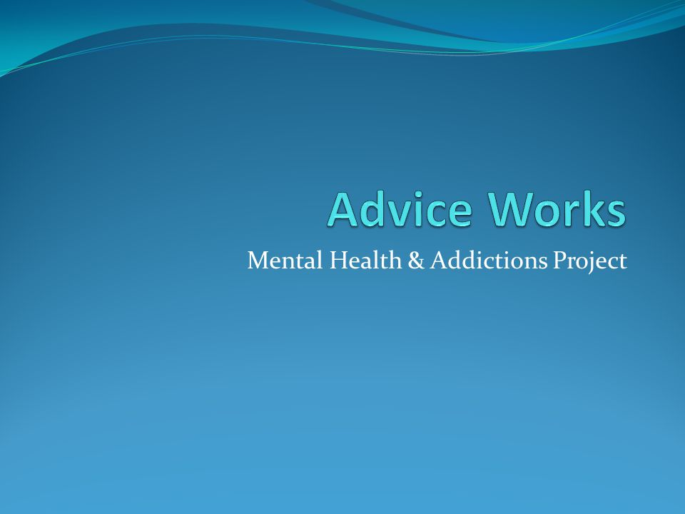 Mental Health & Addictions Project
