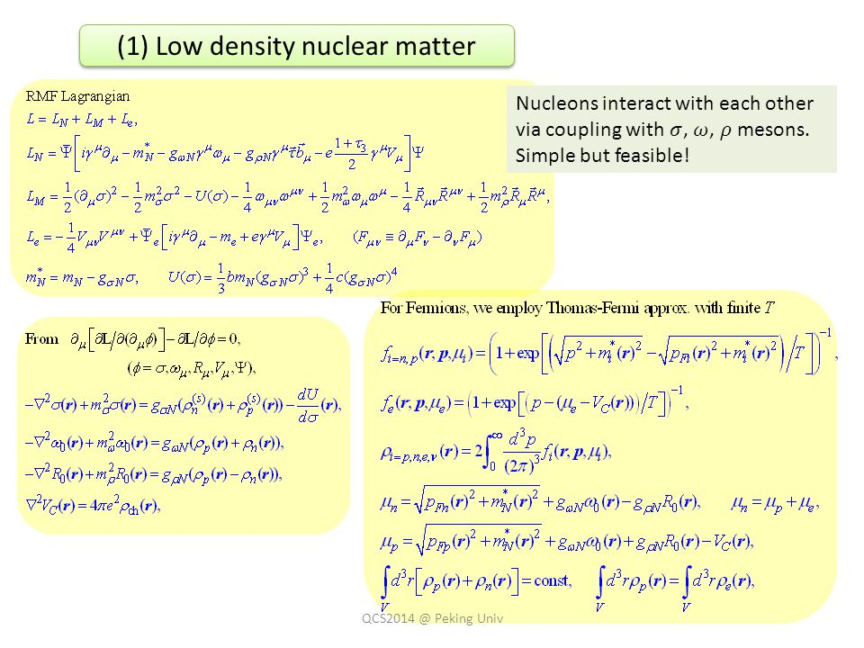 QCS2014 @ Peking Univ (1) Low density nuclear matter