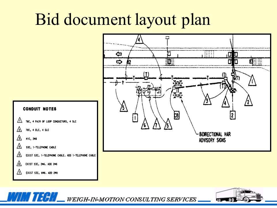Bid document layout plan