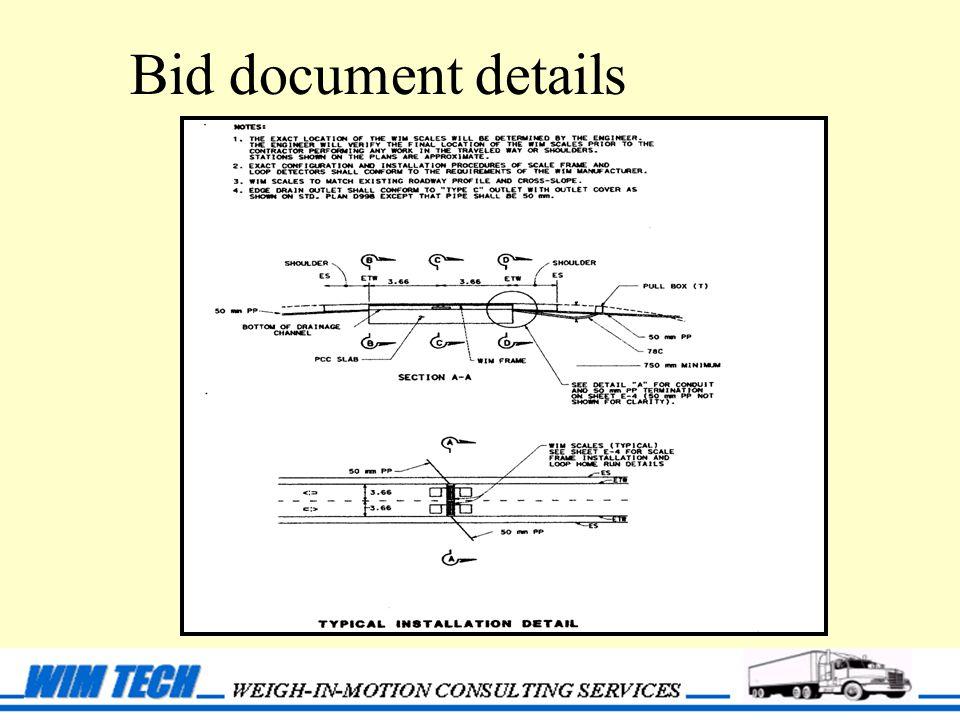 Bid document details