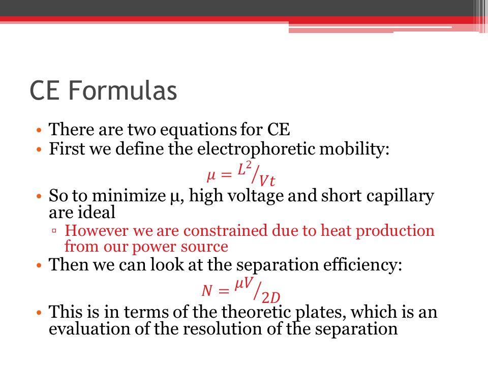 CE Formulas