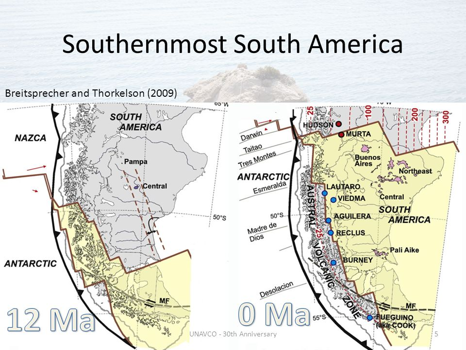 Southernmost South America UNAVCO - 30th Anniversary5 Breitsprecher and Thorkelson (2009)