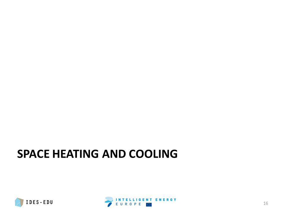 SPACE HEATING AND COOLING 16