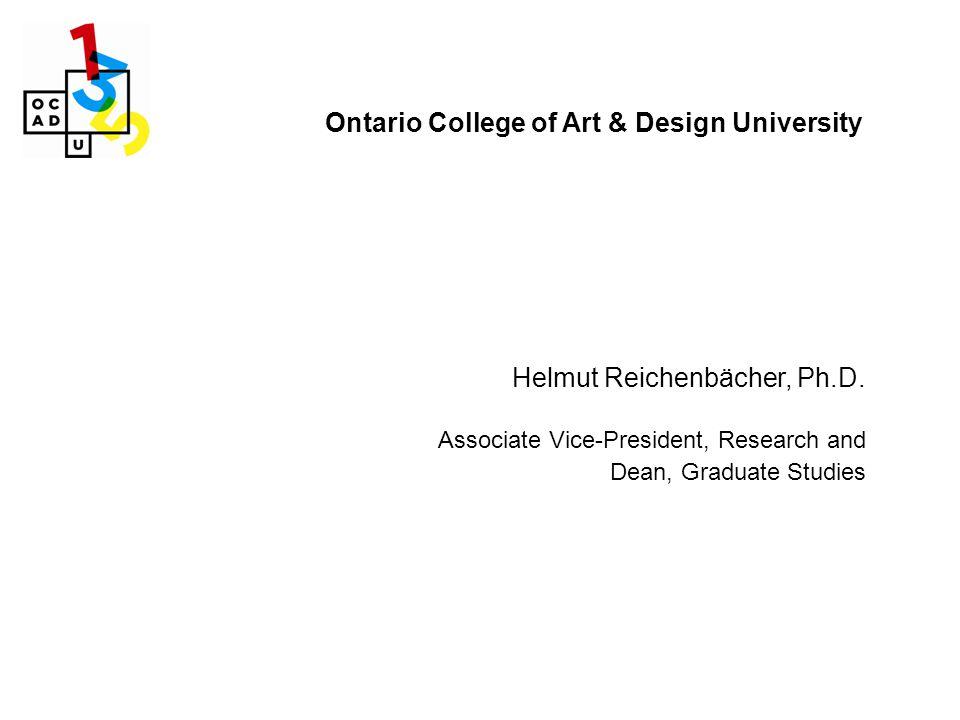 Ontario College of Art & Design University Helmut Reichenbächer, Ph.D.