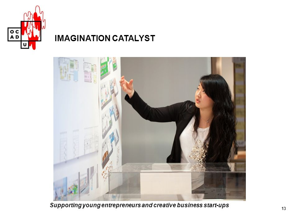 13 IMAGINATION CATALYST Supporting young entrepreneurs and creative business start-ups