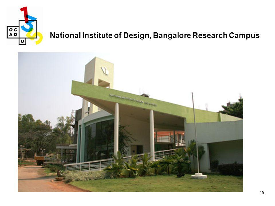 15 National Institute of Design, Bangalore Research Campus