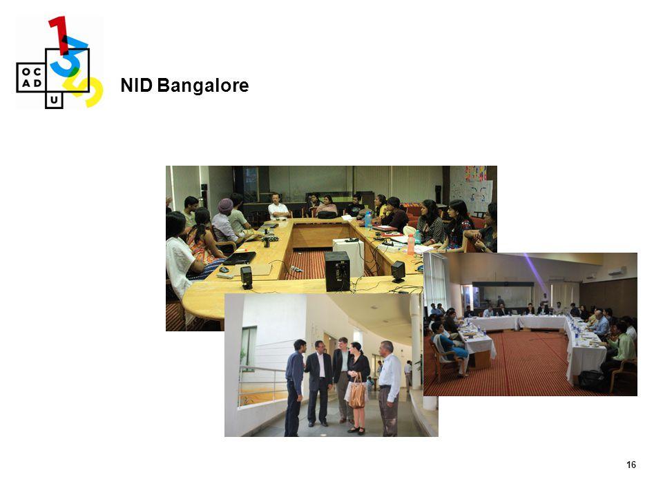 16 NID Bangalore