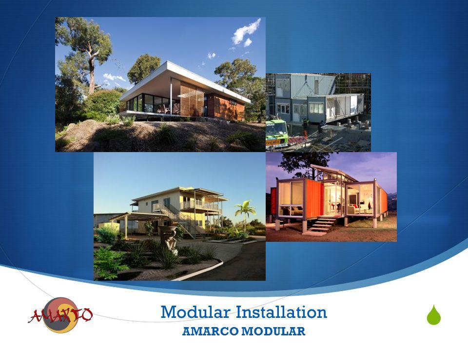  Modular Installation AMARCO MODULAR