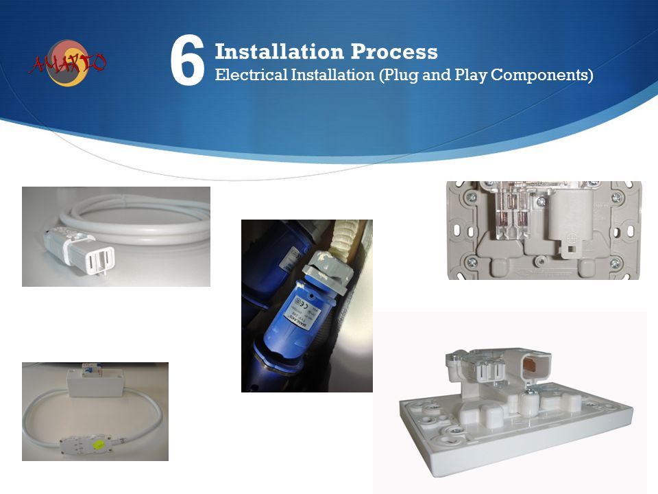 Installation Process Electrical Installation (Plug and Play Components) 6