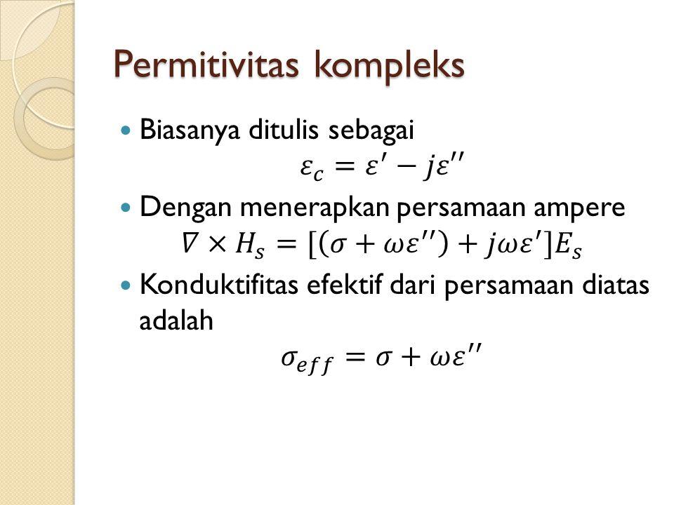 Permitivitas kompleks