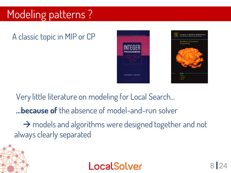 924 Modeling Pattern #1 Choose the right set of decision variables