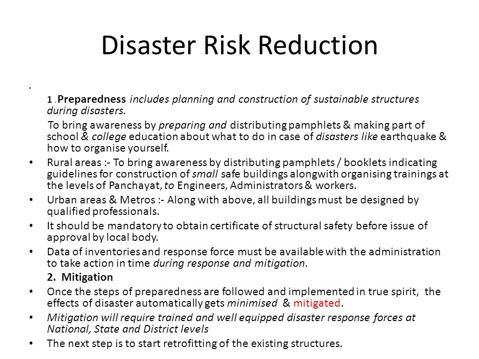 Disaster Risk Reduction 1.