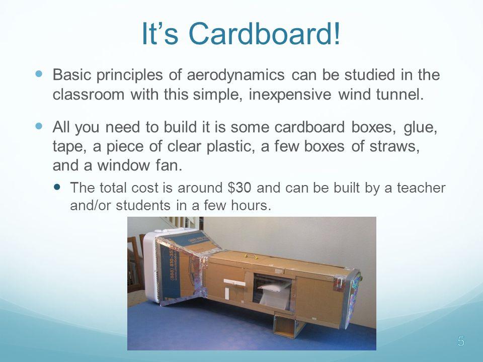 It's Cardboard.