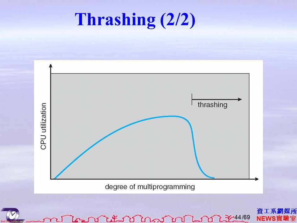 資工系網媒所 NEWS 實驗室 Thrashing (2/2) /6944