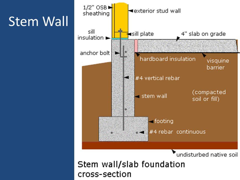 Stem Wall