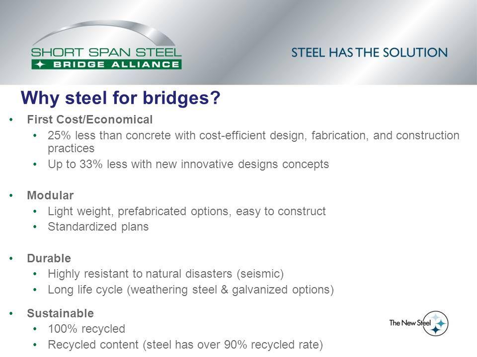 Lighter Cranes Required (Owner Cranes Can Save Costs) Steel Bridge - Advantages