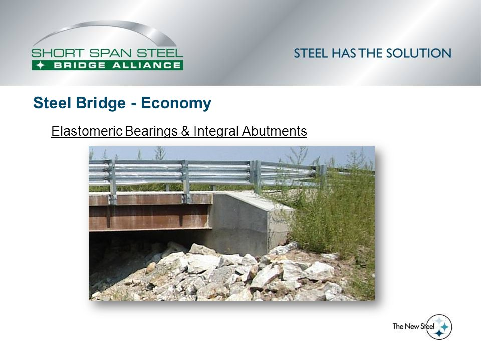 Elastomeric Bearings & Integral Abutments Steel Bridge - Economy