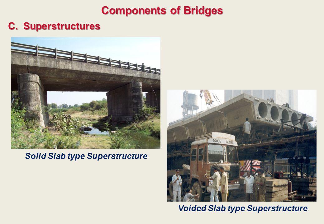 C.Superstructures Components of Bridges Solid Slab type Superstructure Voided Slab type Superstructure