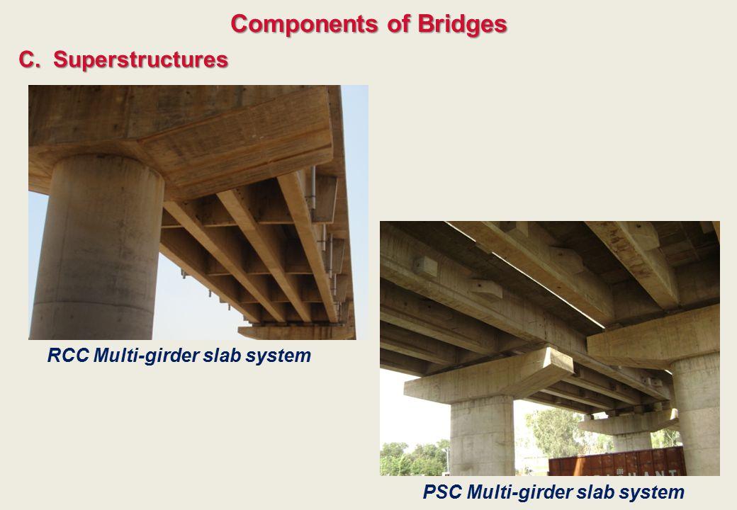 C.Superstructures Components of Bridges RCC Multi-girder slab system PSC Multi-girder slab system