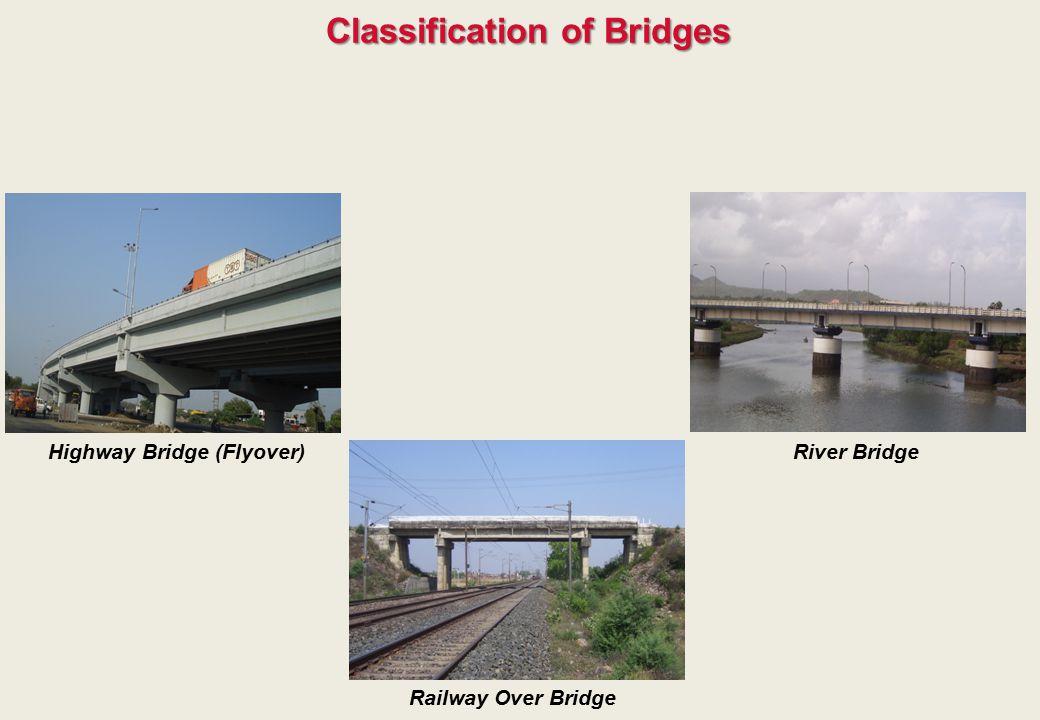 Classification of Bridges Highway Bridge (Flyover) Railway Over Bridge River Bridge