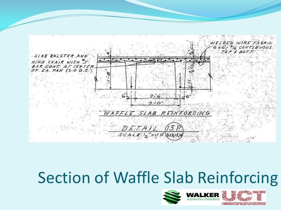 Section of Waffle Slab Reinforcing