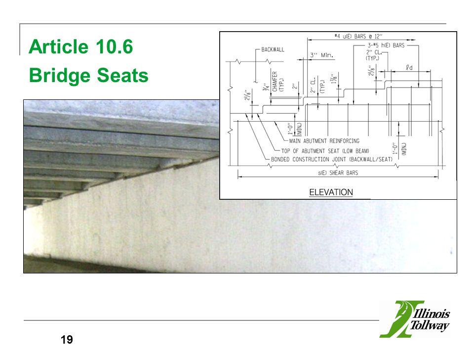 Article 10.6 Bridge Seats 19