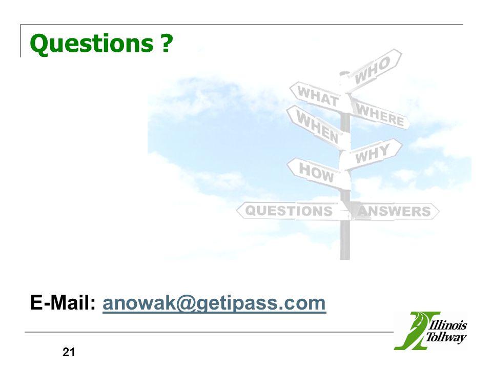 Questions E-Mail: anowak@getipass.comanowak@getipass.com 21