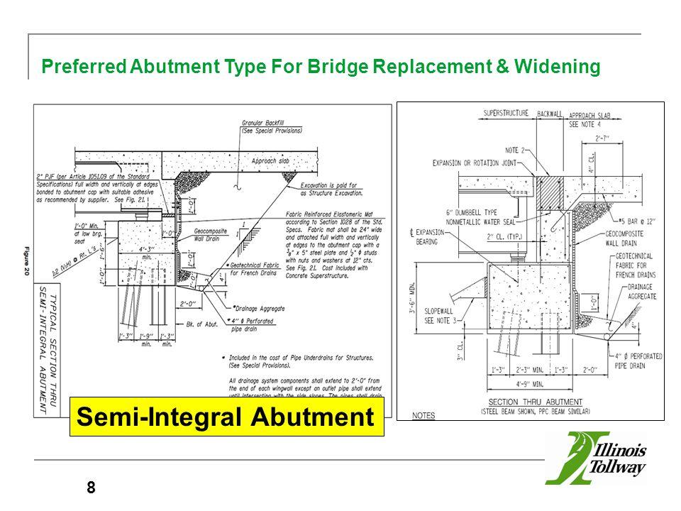 8 Preferred Abutment Type For Bridge Replacement & Widening Semi-Integral Abutment