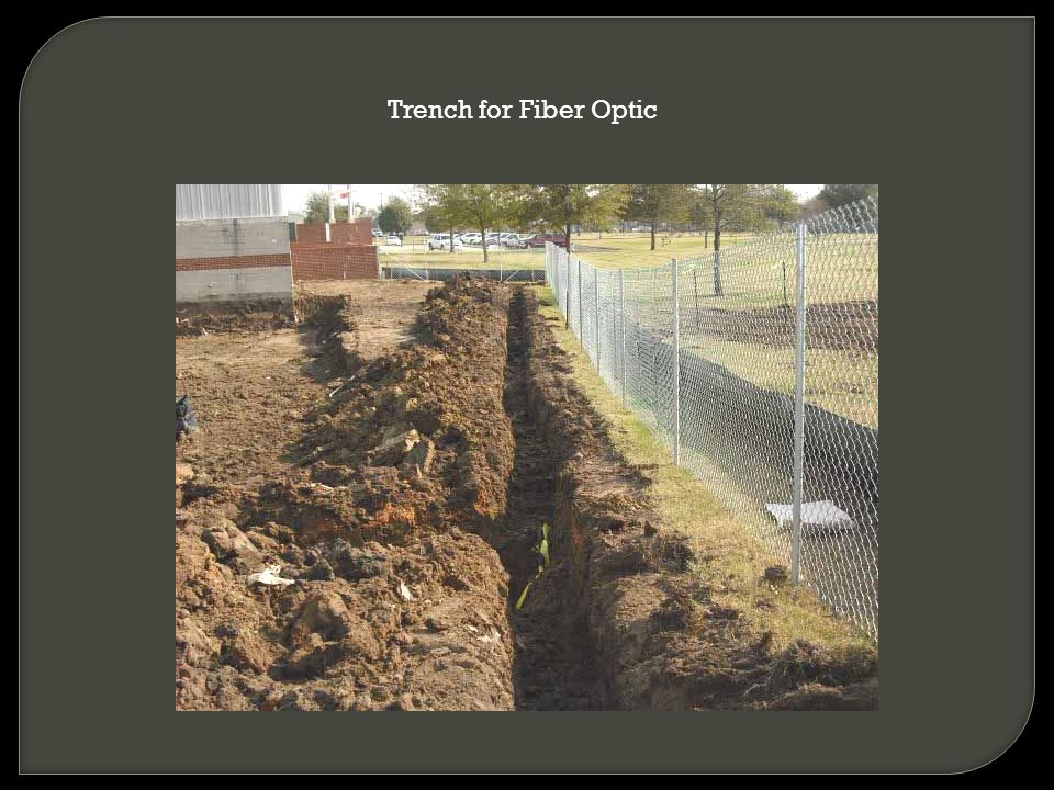 Trench for Fiber Optic