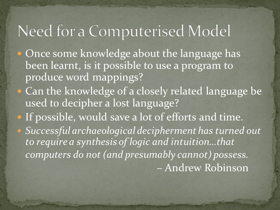 Once some knowledge about the language has been learnt, is it possible to use a program to produce word mappings.