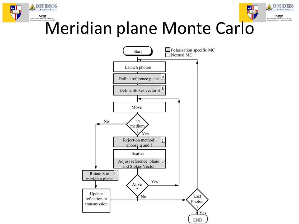 II Escuela de Optica Biomedica, Puebla, 2011 Meridian plane Monte Carlo