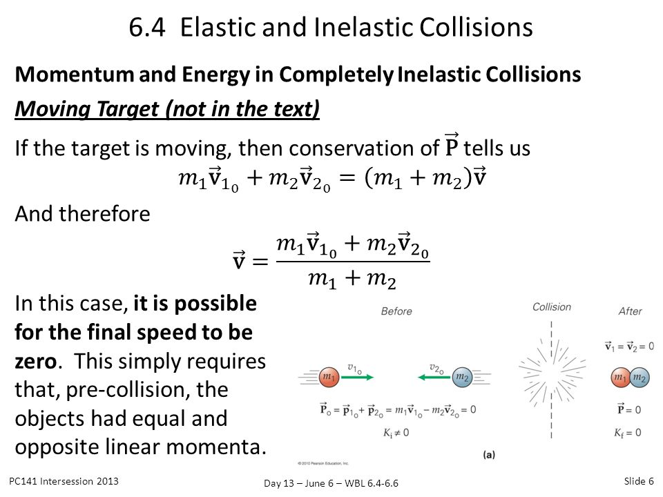 Day 13 – June 6 – WBL 6.4-6.6 6.5 Center of Mass PC141 Intersession 2013Slide 17