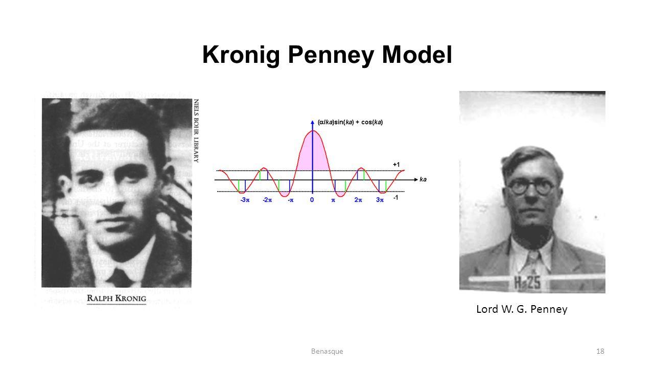 Kronig Penney Model Lord W. G. Penney Benasque18