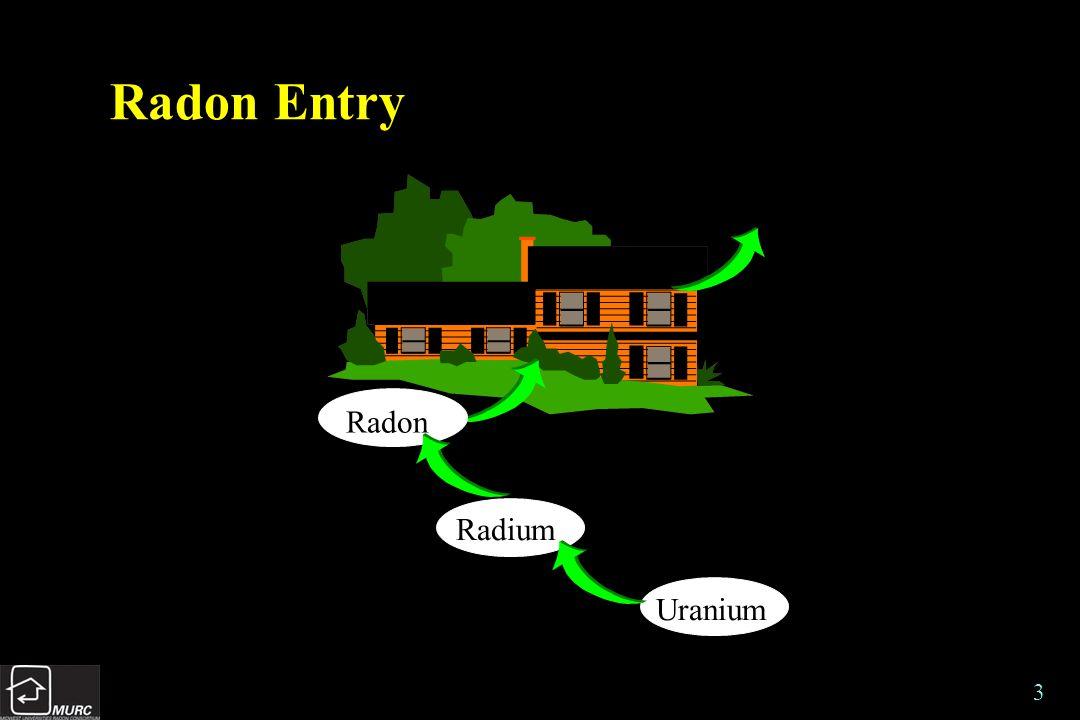 3 Radon Entry Uranium Radium Radon