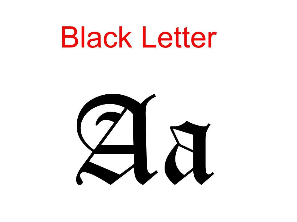 Black Letter Aa