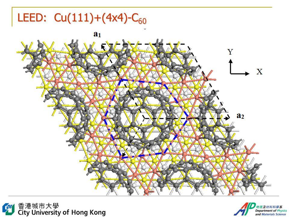 LEED: Cu(111)+(4x4)-C 60